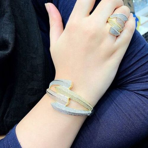 ست انگشتر و دستبند طلا زنانه