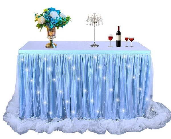 تزیین میز تولد با تور