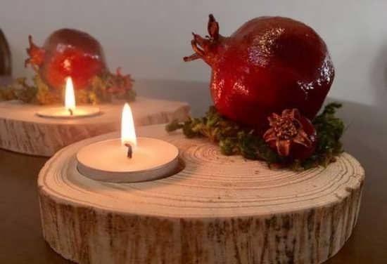 تزیین شمع شب یلدا + ایده هایی برای تزیین و چیدمان شمع مخصوص شب یلدا