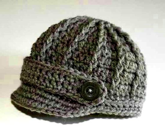 آموزش بافت کلاه بافتنی لبه دار + ۲ مدل کلاه زیبای بافتنی لبه دار با میل