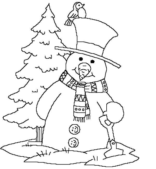 نقاشی آدم برفی برای کودکان