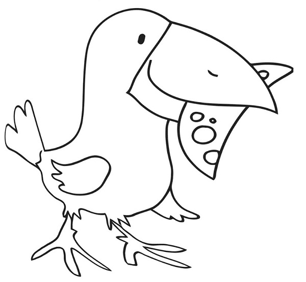 نقاشی کلاغ برای کودکان