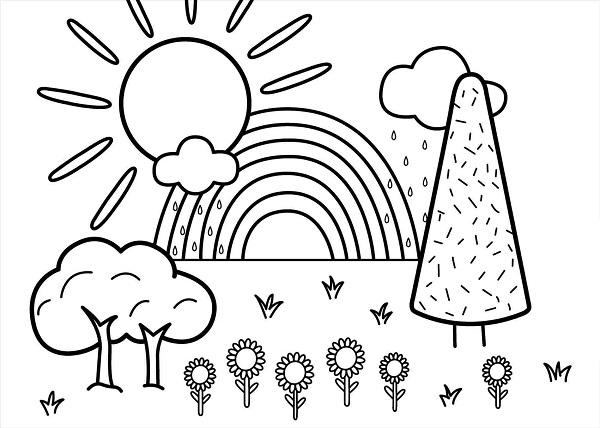 Photo of نقاشی خورشید برای کودکان + 30 نقاشی آماده رنگ آمیزی با طرح های مختلف