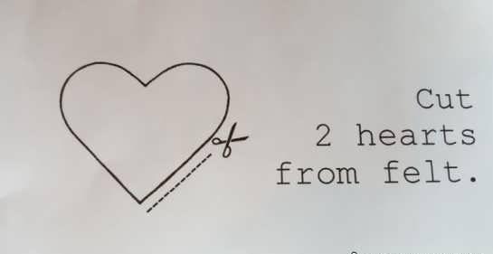 آموزش ساخت قلب با نمد + طرح های یبای قلب قرمز نمدی