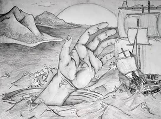 طرح نقاشی سیاه قلم