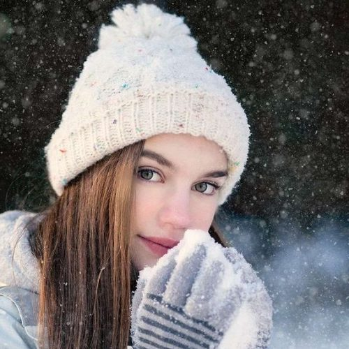 عکس پروفایل برفی دخترانه