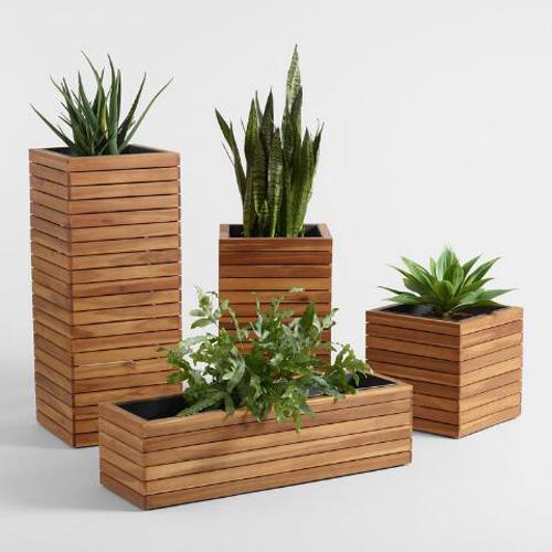 Photo of مدل گلدان چوبی برای گیاهان در فضای داخل و بیرون + راهنمای انتخاب