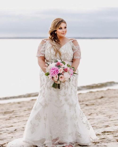 مدل لباس عروس خانم های چاق