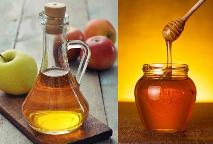 لاغری با سرکه سیب و عسل