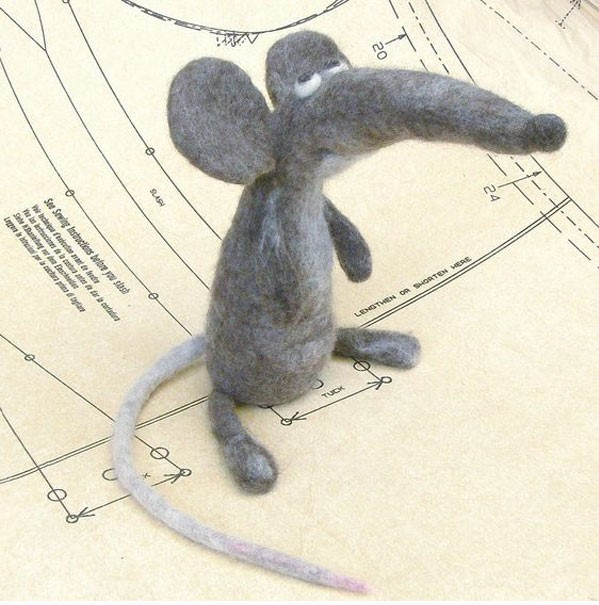 آموزش دوخت موش نمدی