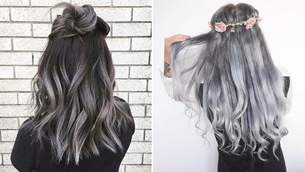 مدل های رنگ موی دودی تیره و روشن