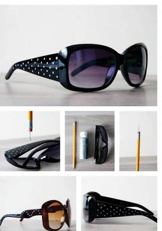 تزیین عینک زنانه