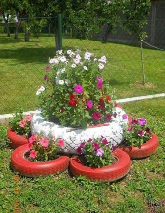 ساخت گلدان با لاستیک