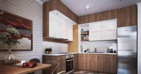 دکوراسیون آشپزخانه مستطیل