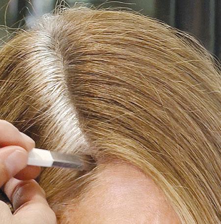 آموزش ریشه گیری موهای رنگ شده