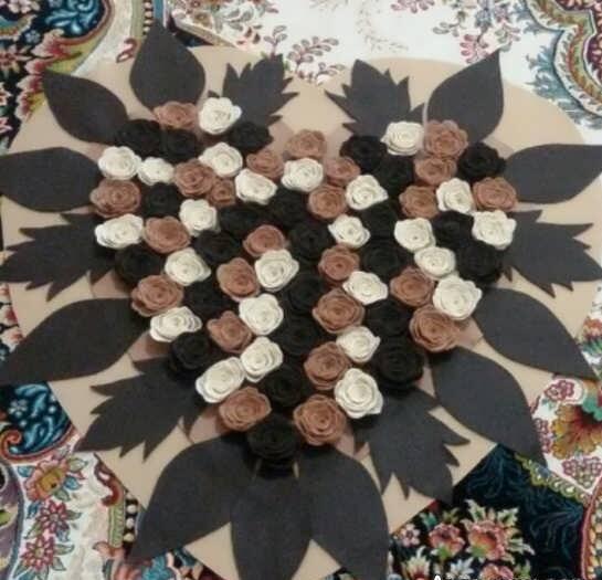 آموزش رومیزی نمدی زیبا