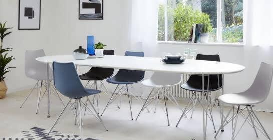 مدل میز ناهارخوری بیضی