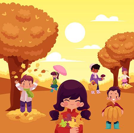 شعر پاییز کودکانه