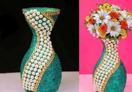 تزیین گلدان سفالی