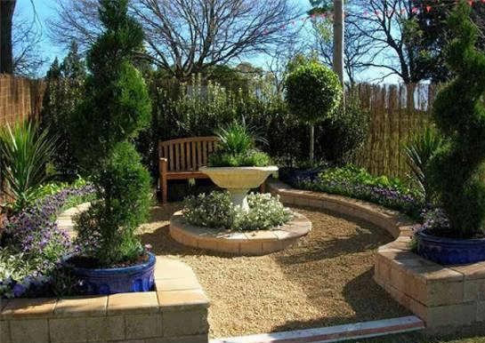 طرح باغ کوچک و زیبا برای طراحی فضای باغ ویژه مکان های کوچک