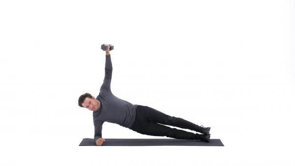 حرکت slide plank lateral raise