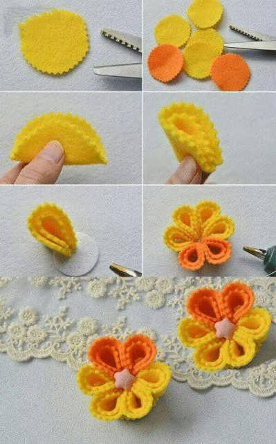 آموزش ساخت گل نمدی با هفت روش آسان و راحت