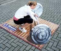 نقاشی های جالب سه بعدی در خیابان