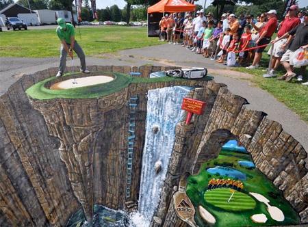 نقاشی سه بعدی خیابانی