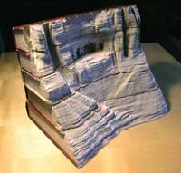 هنرنمایی جالب و دیدنی با کتاب های قطور
