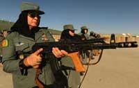 عکسی دیدنی از تمرین زنان پلیس افغان