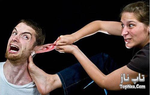 تصاویر فوتوشاپی از جنگ بین زن و مرد