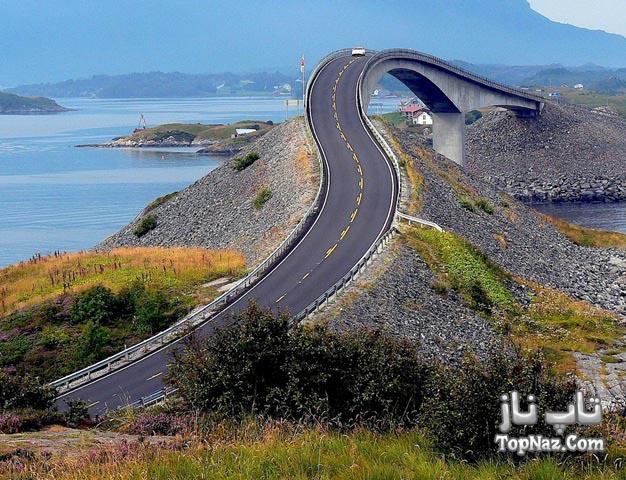 جاده ای فوق العاده شگفت انگیز در اقیانوس اطلس