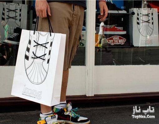 تبلیغاتی بسیار جالب و خلاقانه روی پلاستیک دسته دار