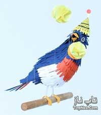 پرندگان بسیار زیبایی که با کاغذ خلق شده اند