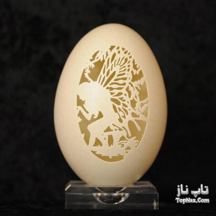 هنرنمایی دیدنی با پوست تخم شترمرغ