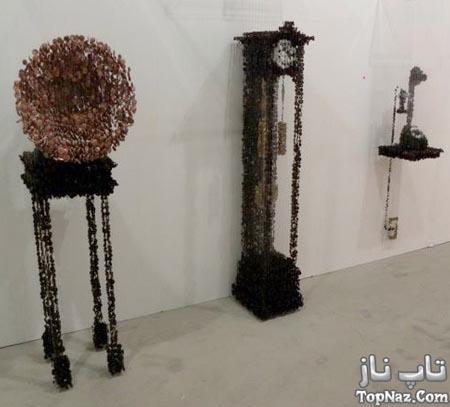 خلق مجسمه های زیبا با دکمه های لباس