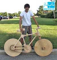 دوچرخه از جنس چوب هم ساخته شد + تصاویر