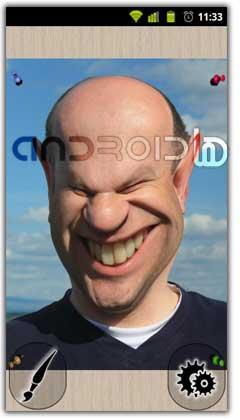 دانلود نرم افزار تغییر چهره صورت آندروید Photo Warp