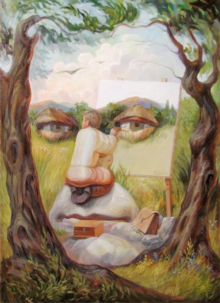 نقاشی های بسیار زیبای چهره در چهره