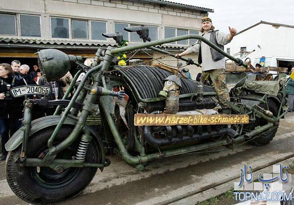 بزرگترین موتورسیکلت جهان