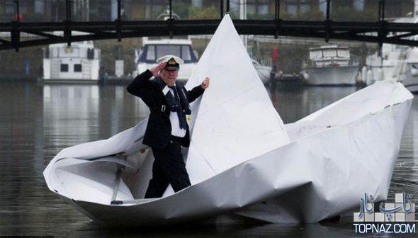 بزرگترین قایق کاغذی