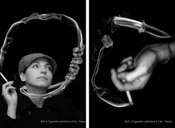 تصاویر تاثیر گذار ضد سیگار