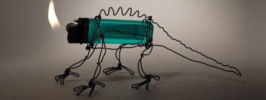 خلق آثار زیبای هنری با وسایل عجیب