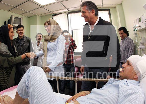 عیادت کی روش و همسرش از دایی در حضور همسر دایی+عکس