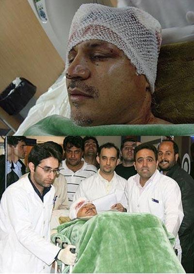 علی دایی در بیمارستان