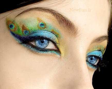 87727121159067522187 عکس مدل های جدید آرایش چشم و صورت آبان 90