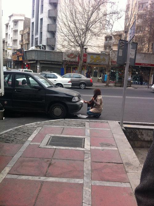 فرار خانم از ترافیک