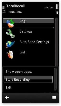 دانلود نرم افزار ضبط مکالمه در سیمبیان Total Recall 5.2
