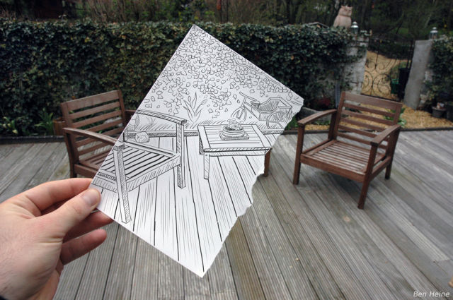 ترکیب جالب نقاشی و عکس