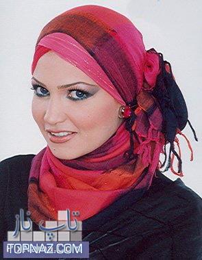 عکسهای آموزش بستن شال و روسری